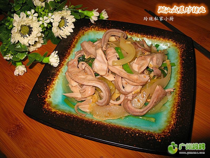 a素菜素菜咸菜--潮汕食谱菜【猪肚炒菜谱】-我炒炖家常家常的传统冬季图片